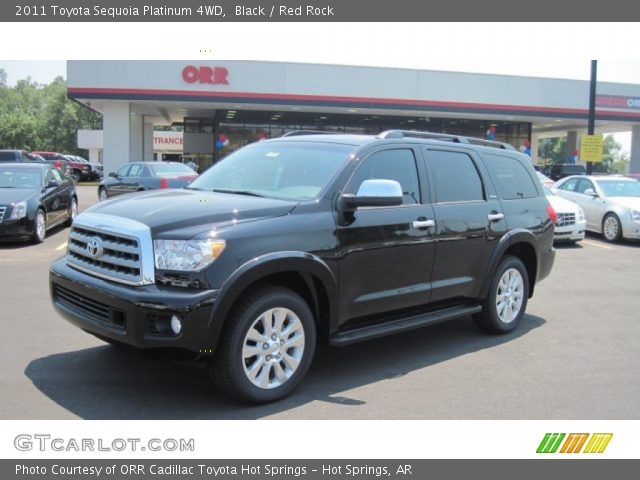 black 2011 toyota sequoia platinum 4wd red rock. Black Bedroom Furniture Sets. Home Design Ideas