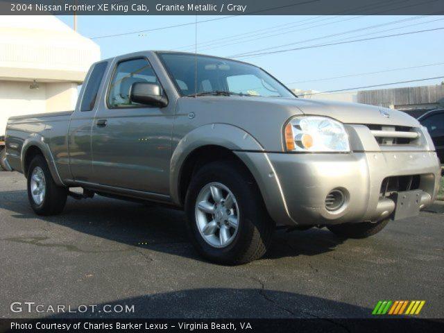 granite metallic 2004 nissan frontier xe king cab gray interior vehicle. Black Bedroom Furniture Sets. Home Design Ideas