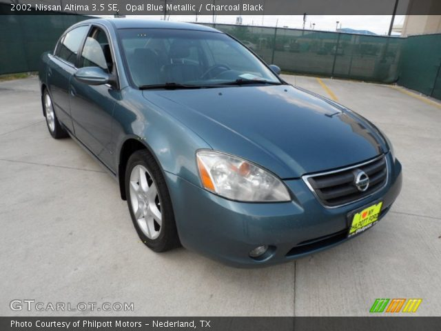 opal blue metallic 2002 nissan altima 3 5 se charcoal. Black Bedroom Furniture Sets. Home Design Ideas