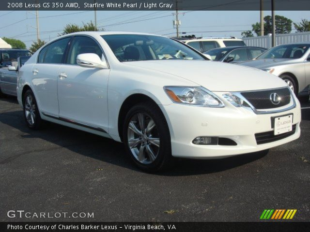 starfire white pearl 2008 lexus gs 350 awd light gray interior vehicle. Black Bedroom Furniture Sets. Home Design Ideas