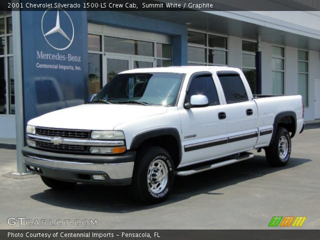summit white 2001 chevrolet silverado 1500 ls crew cab. Black Bedroom Furniture Sets. Home Design Ideas