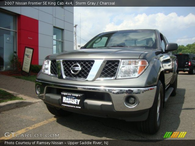 storm gray 2007 nissan frontier se king cab 4x4 charcoal interior vehicle. Black Bedroom Furniture Sets. Home Design Ideas