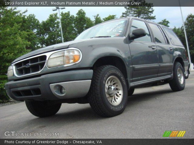 Medium Platinum Metallic 1999 Ford Explorer Xlt Medium Graphite Grey Interior