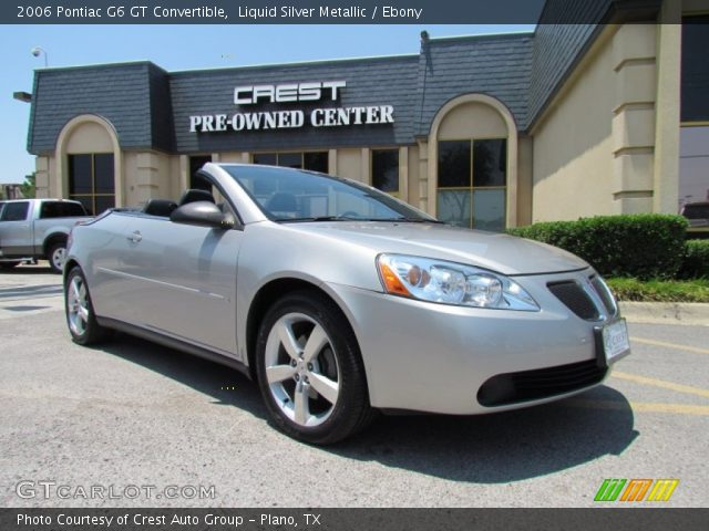 liquid silver metallic 2006 pontiac g6 gt convertible. Black Bedroom Furniture Sets. Home Design Ideas