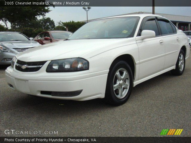 white 2005 chevrolet impala ls medium gray interior. Black Bedroom Furniture Sets. Home Design Ideas