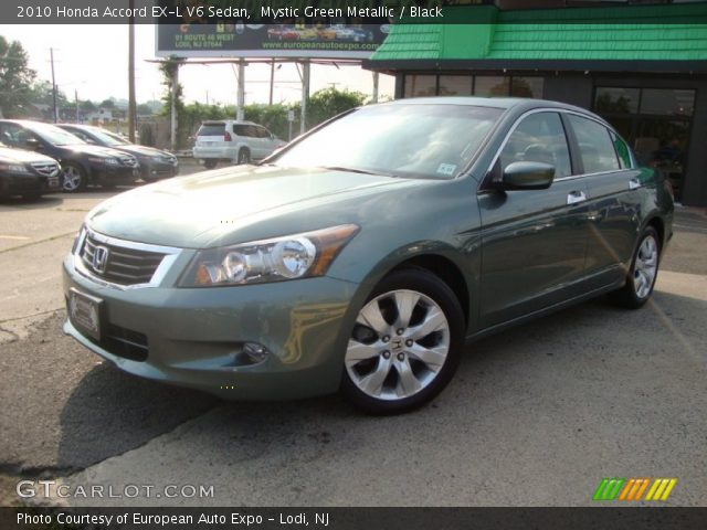 mystic green metallic 2010 honda accord ex l v6 sedan. Black Bedroom Furniture Sets. Home Design Ideas