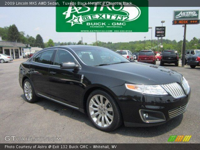 tuxedo black metallic 2009 lincoln mks awd sedan. Black Bedroom Furniture Sets. Home Design Ideas