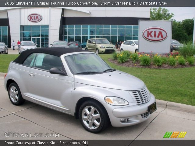 bright silver metallic 2005 chrysler pt cruiser touring turbo convertible dark slate gray. Black Bedroom Furniture Sets. Home Design Ideas