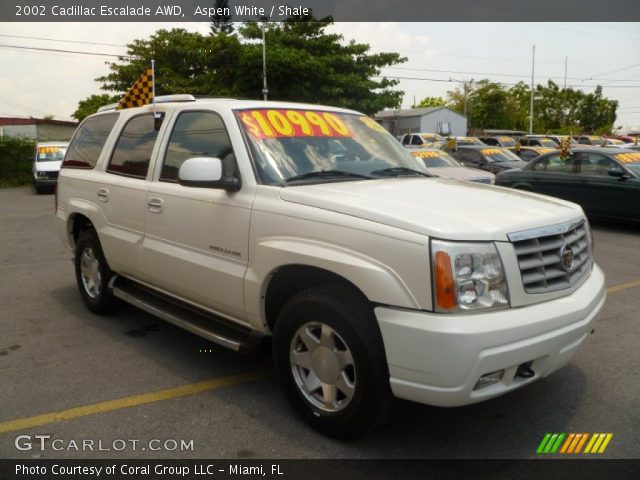 Aspen White 2002 Cadillac Escalade Awd Shale Interior Vehicle Archive 50466551