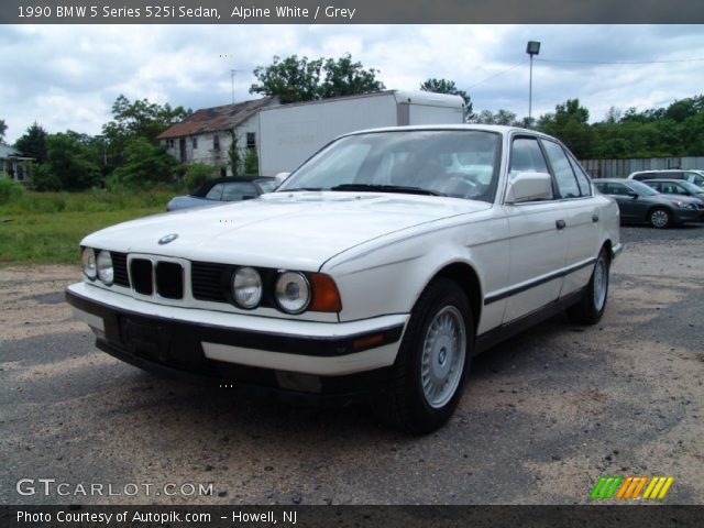 alpine white 1990 bmw 5 series 525i sedan grey. Black Bedroom Furniture Sets. Home Design Ideas