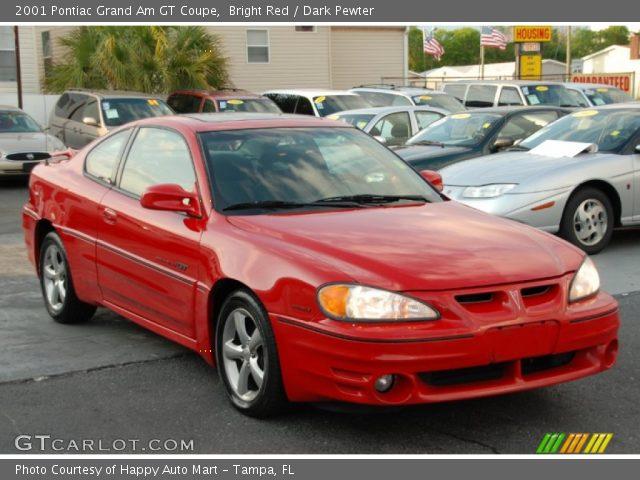 bright red 2001 pontiac grand am gt coupe dark pewter interior vehicle. Black Bedroom Furniture Sets. Home Design Ideas