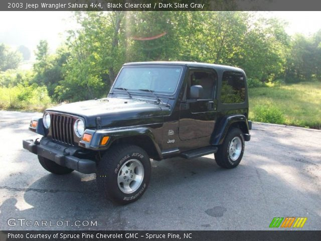 black clearcoat 2003 jeep wrangler sahara 4x4 dark. Black Bedroom Furniture Sets. Home Design Ideas