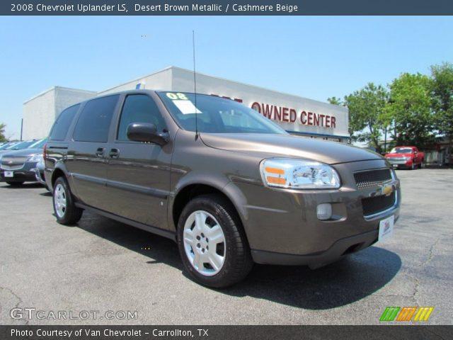 Desert Brown Metallic 2008 Chevrolet Uplander Ls Cashmere Beige Interior