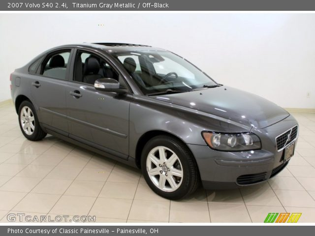 titanium gray metallic 2007 volvo s40 off black. Black Bedroom Furniture Sets. Home Design Ideas