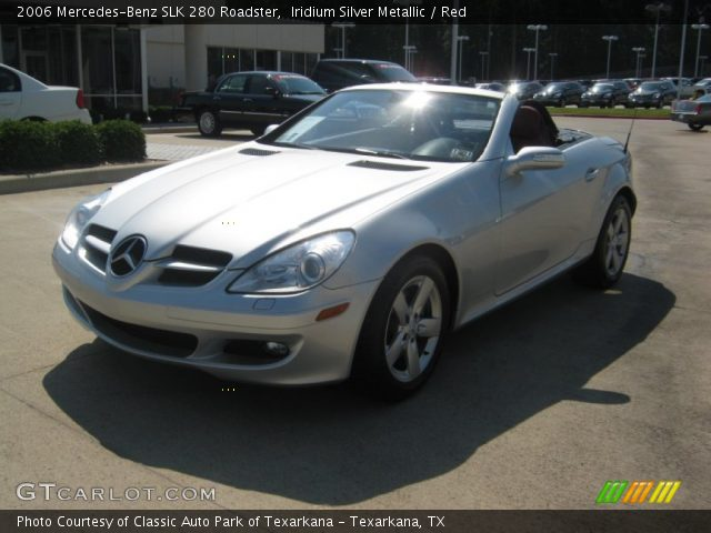 iridium silver metallic 2006 mercedes benz slk 280 roadster red interior. Black Bedroom Furniture Sets. Home Design Ideas