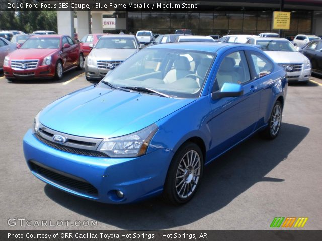 blue flame metallic 2010 ford focus ses coupe medium. Black Bedroom Furniture Sets. Home Design Ideas