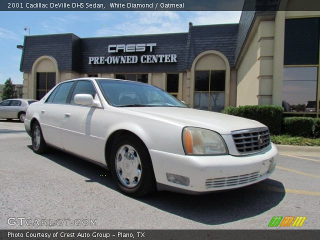 white diamond 2001 cadillac deville dhs sedan oatmeal. Black Bedroom Furniture Sets. Home Design Ideas
