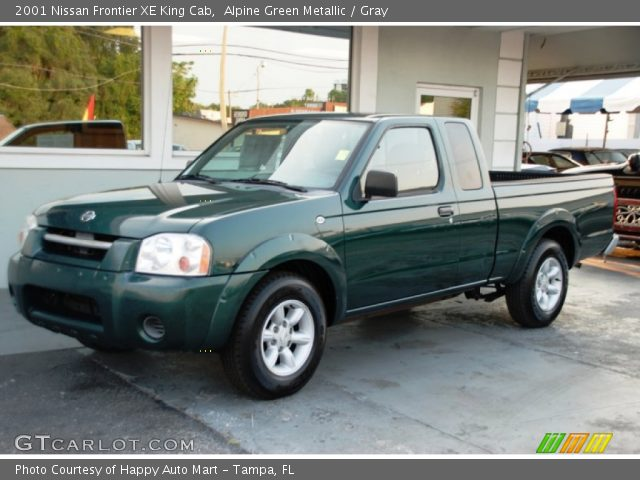 alpine green metallic 2001 nissan frontier xe king cab. Black Bedroom Furniture Sets. Home Design Ideas