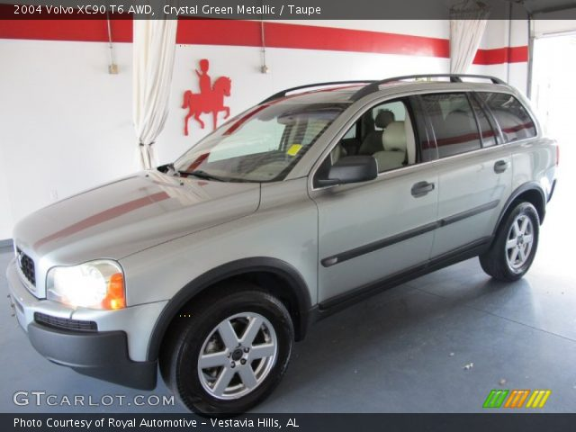 crystal green metallic 2004 volvo xc90 t6 awd taupe interior vehicle. Black Bedroom Furniture Sets. Home Design Ideas