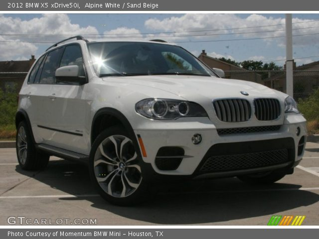 alpine white 2012 bmw x5 xdrive50i sand beige interior vehicle archive. Black Bedroom Furniture Sets. Home Design Ideas