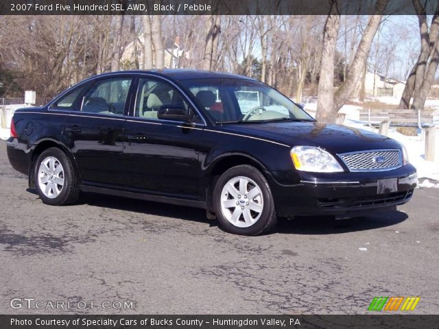 black 2007 ford five hundred sel awd pebble interior vehicle archive 5054726. Black Bedroom Furniture Sets. Home Design Ideas