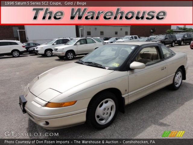 1996 Saturn S Series SC2 Coupe in Gold