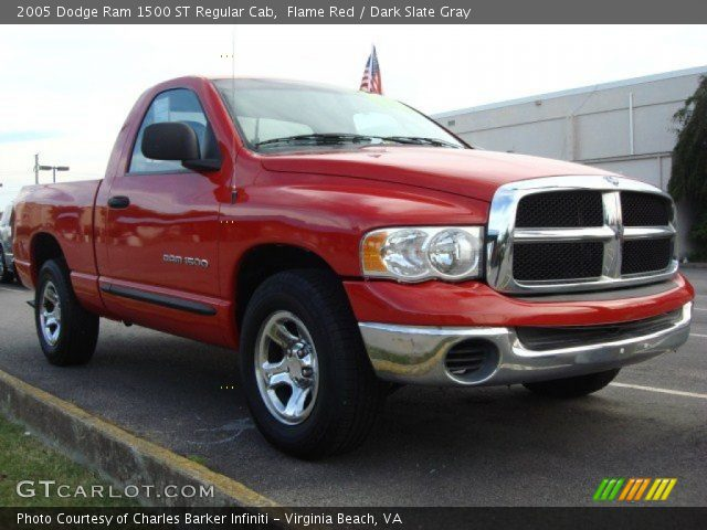 flame red 2005 dodge ram 1500 st regular cab dark slate gray interior. Black Bedroom Furniture Sets. Home Design Ideas