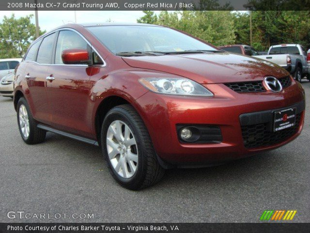 copper red mica 2008 mazda cx 7 grand touring awd black interior vehicle. Black Bedroom Furniture Sets. Home Design Ideas