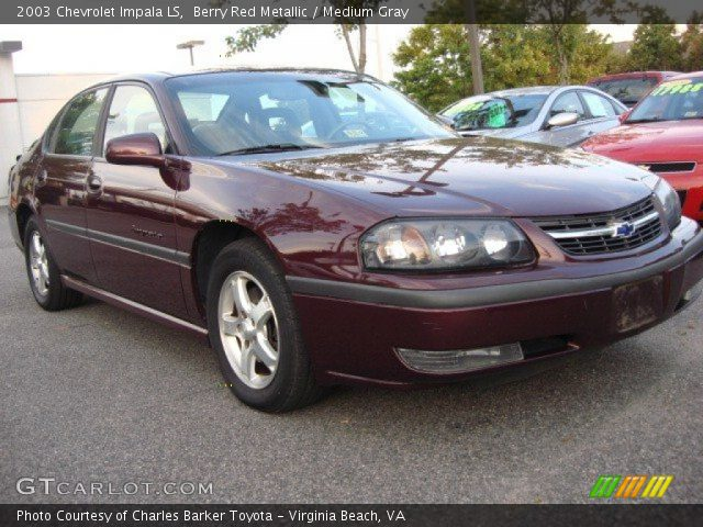 berry red metallic 2003 chevrolet impala ls medium. Cars Review. Best American Auto & Cars Review