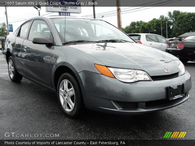 storm gray 2007 saturn ion 2 quad coupe black interior. Black Bedroom Furniture Sets. Home Design Ideas