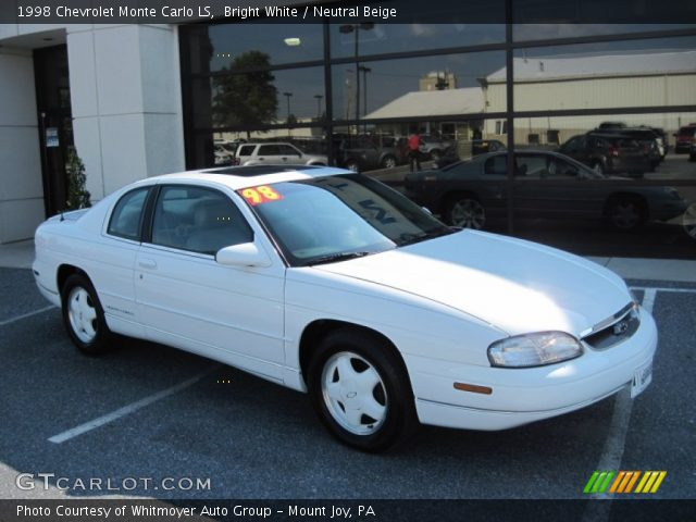 bright white 1998 chevrolet monte carlo ls neutral. Black Bedroom Furniture Sets. Home Design Ideas