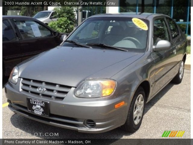 charcoal gray metallic 2003 hyundai accent gl coupe. Black Bedroom Furniture Sets. Home Design Ideas