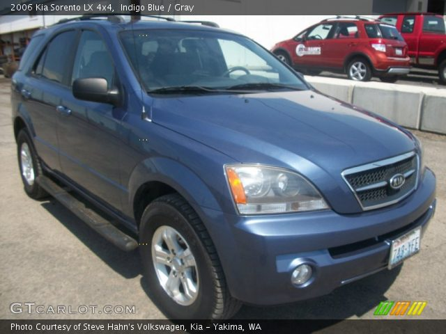 indigo blue 2006 kia sorento lx 4x4 gray interior. Black Bedroom Furniture Sets. Home Design Ideas