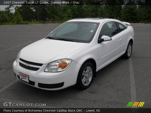 summit white 2007 chevrolet cobalt lt coupe gray. Black Bedroom Furniture Sets. Home Design Ideas