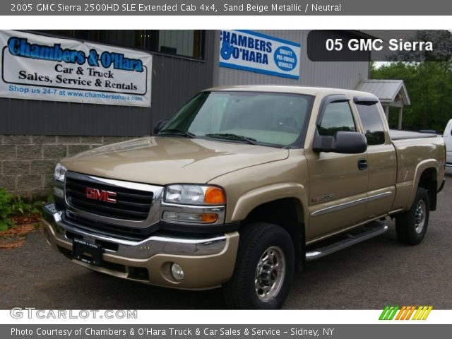sand beige metallic 2005 gmc sierra 2500hd sle extended cab 4x4 neutral interior gtcarlot. Black Bedroom Furniture Sets. Home Design Ideas