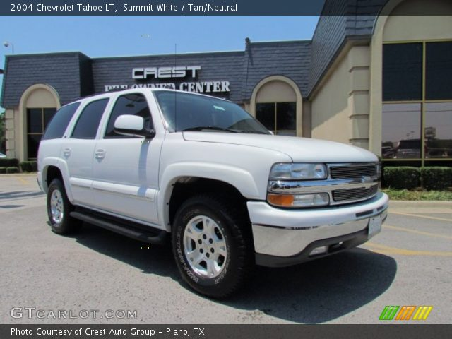 summit white 2004 chevrolet tahoe lt tan neutral. Black Bedroom Furniture Sets. Home Design Ideas