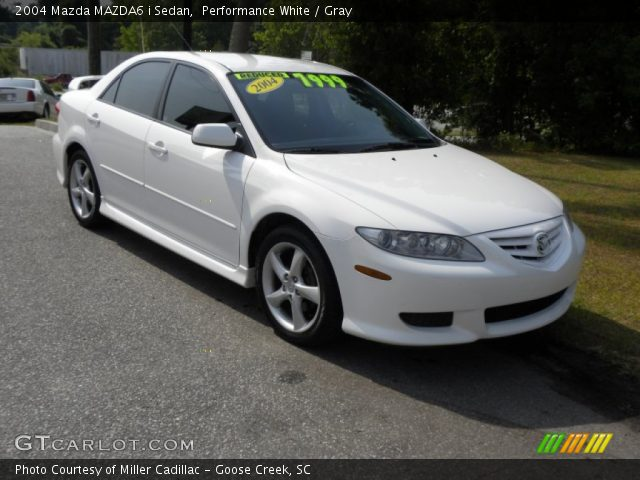 performance white 2004 mazda mazda6 i sedan gray interior vehicle archive. Black Bedroom Furniture Sets. Home Design Ideas