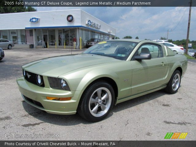 legend lime metallic 2005 ford mustang gt deluxe coupe. Black Bedroom Furniture Sets. Home Design Ideas