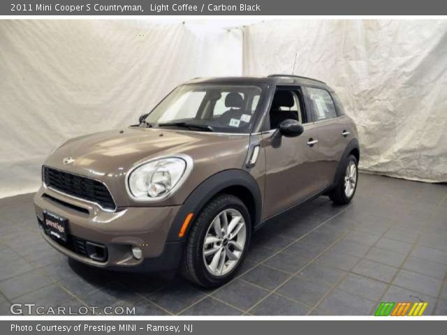 light coffee 2011 mini cooper s countryman carbon black interior vehicle. Black Bedroom Furniture Sets. Home Design Ideas