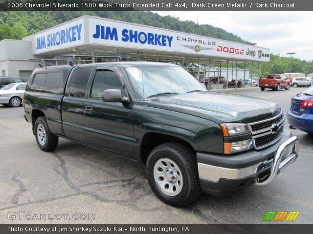 2006 Chevrolet Silverado 1500 Work Truck Extended Cab 4x4 in Dark Green Metallic