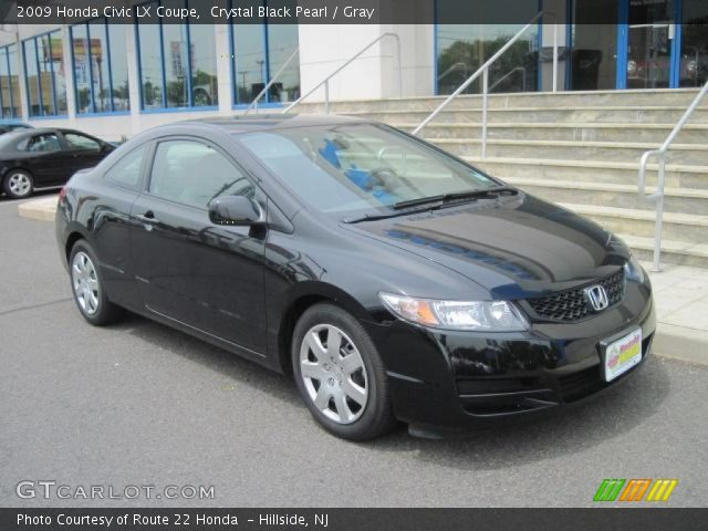 crystal black pearl 2009 honda civic lx coupe gray