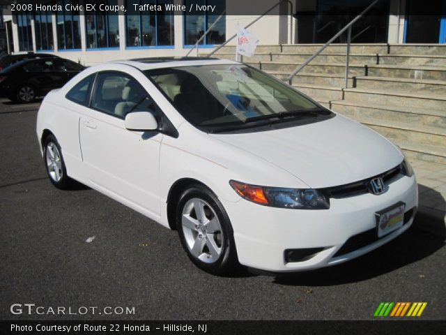 taffeta white 2008 honda civic ex coupe ivory interior vehicle archive. Black Bedroom Furniture Sets. Home Design Ideas