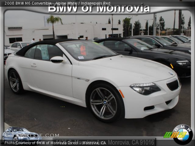 Alpine White 2008 Bmw M6 Convertible Indianapolis Red Interior Vehicle