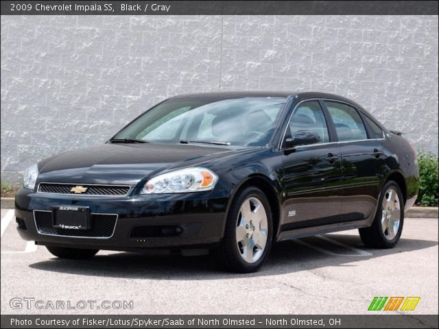 black 2009 chevrolet impala ss gray interior vehicle archive 50690520. Black Bedroom Furniture Sets. Home Design Ideas