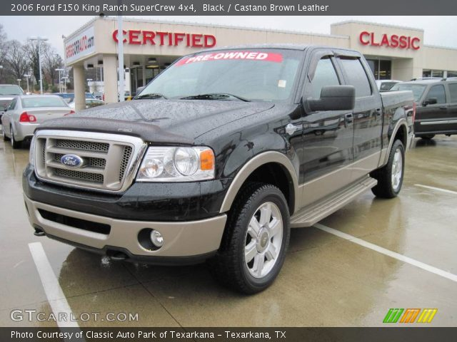black 2006 ford f150 king ranch supercrew 4x4 castano brown leather interior. Black Bedroom Furniture Sets. Home Design Ideas