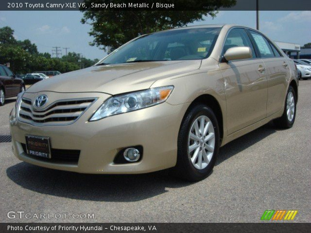 sandy beach metallic 2010 toyota camry xle v6 bisque. Black Bedroom Furniture Sets. Home Design Ideas