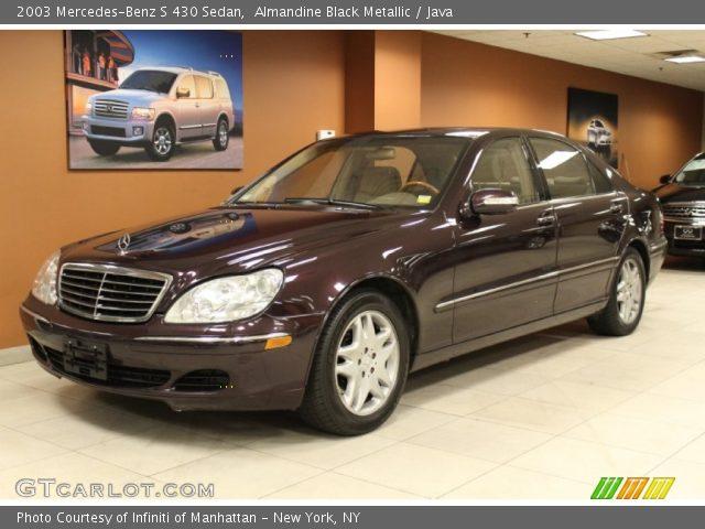 Almandine black metallic 2003 mercedes benz s 430 sedan for Mercedes benz s 430