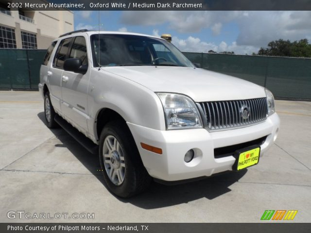 2002 Mercury Mountaineer  in Oxford White