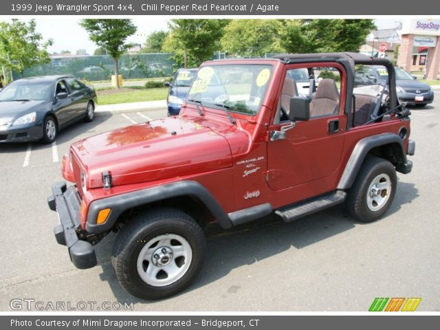 chili pepper red pearlcoat 1999 jeep wrangler sport 4x4. Black Bedroom Furniture Sets. Home Design Ideas