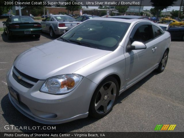 ultra silver metallic 2006 chevrolet cobalt ss supercharged coupe ebony red interior. Black Bedroom Furniture Sets. Home Design Ideas